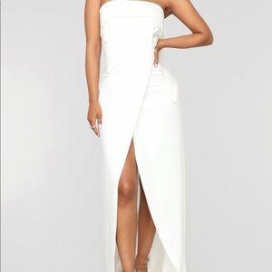 White cardi b inspired dress